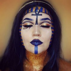This is amazing! repost from My last minute enty for the… Neutral Eye Makeup, Bright Eye Makeup, Subtle Makeup, Smokey Eye Makeup, Halloween Cosplay, Halloween Makeup, Sexy Makeup, Makeup Looks, Egyptian Beauty