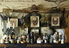 Venom and Vice and Not a Single Thing Nice: DIY Apothecary Table