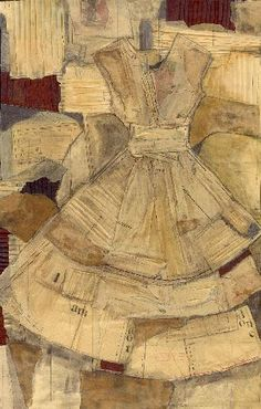 "Marilyn Stevens ~ ""Not Done With My Changes"" Mixed media; Vintage textiles, pattern paper and text. 40 x 64 in. via mnartists.org *title from artist's site*"