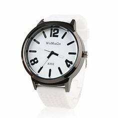Tanboo Silicone Band Classic Big Dial Fashion Quartz Women Men Casual Watch - White by Tanboo Watchs. $10.99. Sports Fan Watch. Gender:Women's, Men'sMovement:QuartzDisplay:AnalogStyle:Wrist WatchesType:Casual WatchesBand Material:SiliconeBand Color:WhiteCase Diameter Approx (cm):4.4Case Thickness Approx (cm):1.3Band Length Approx (cm):24.5Band Width Approx (cm):2.4