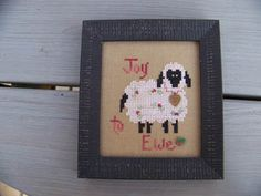Joy To Ewe (w/charm) - click here for more details about this chart