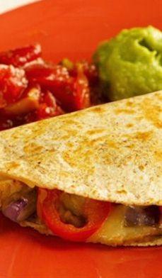 light & easy chicken quesadillas