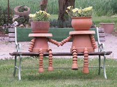 reuse those old garden pots laying around