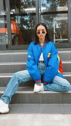 Varsity Jacket Outfit, Nascar Jackets, Nascar Racing, Winter Jackets Women, Vintage Jacket, Jackets Online, Streetwear Fashion, Aesthetic Clothes, Outfits