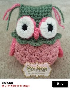Day 5 - Anniversary SALE: 30% off these cute little Owl plushies plus FREE US Shipping. Customize these little fellas in any color you want! 30 Days of Savings Celebration. Offer ends 8/25/15 at midnight EST. Discount applies automatically at checkout.  #crochet #anniversary #sale #celebrate #owl #plushie #amigurumi
