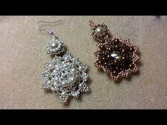 Occorrente: 2 Rivoli da 14 mm Miyuki Rocailles 11/0 Miuki Rocailles 15/0 Perle da 4 mm 2 perle da 7 mm Video Orecchini Embroidery ROSA ROSE http://youtu.be/u...