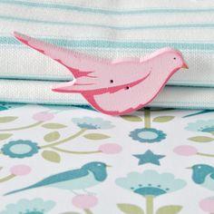 Pink bird button   Flickr - Photo Sharing!