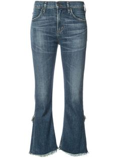 Blue cotton blend Altra Wash jeans from Citizens Of Humanity. Designer Jeans For Women, Ethical Brands, Citizens Of Humanity, Bell Bottom Jeans, Women Wear, Clothes For Women, Cotton, Carbon Footprint, Blue