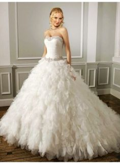 Modern Bridal Gowns - Sexy A-line One Shoulder Flower Ruching Brush Train Organza Wedding Dresses for you at 58bridesmaid Online Shops - LoveItSoMuch.com