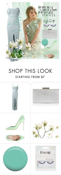 """""""Taylor Swift"""" by greensparkle1 ❤ liked on Polyvore featuring COVERGIRL, Yves Saint Laurent, Monsoon, Casadei, Jin Soon and eylure"""