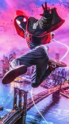 Miles Spiderman City Art IPhone Wallpaper - IPhone Wallpapers