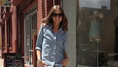 Hey Guys!  Here I am in Brooklyn before my trip to Milan.  My shirt is Tommy Hilfiger, and my jeans are Topshop