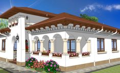 Romanian Traditional Houses – A Heartfelt Feeling Of Beauty - Houz Buzz Building Images, Traditional House Plans, Dream House Plans, Design Case, Modernism, Beautiful Bedrooms, Exterior Design, My House, Architecture Design