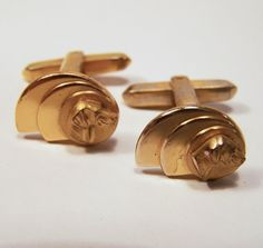 Vintage Hickok Men's Hunting Dog Cufflinks by GretelsTreasures