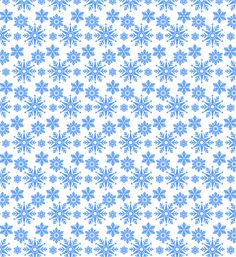 Beautiful Free Seamless Snowflake Vector Pattern