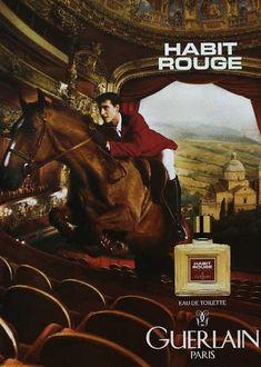 Habit Rouge Eau de Toilette Guerlain cologne - a fragrance for men 1965 Versace Perfume, Perfume Ad, Vintage Perfume, Caron Perfume, Parfum Guerlain, Guerlain Paris, Gender Bender, Viria, Habit Rouge