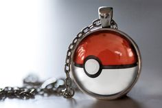 Pokemon Inspired Pendant Necklace, Pokeball Necklace, Pokemon Jewelry on Etsy, $12.95