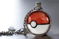 Pokemon Inspired Pendant Necklace, Pokeball Necklace, Pokemon Jewelry on Etsy, $12.95