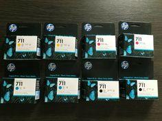 Job Lot 2x full Sets HP 711 Ink Cartridges Expiry 2021/2022 #Hp