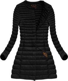 Dlhá dámska prechodná bunda čierna x7148X Dresses With Sleeves, Blazer, Outfit, Long Sleeve, Sweaters, Jackets, Women, Fashion, Fashion Clothes