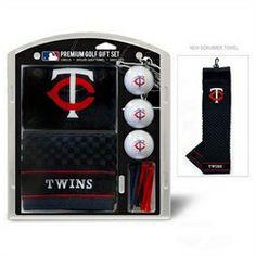 Minnesota Twins Golf Towel with Golf Balls Gift Set