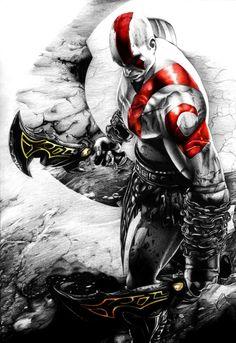 HD Background Kratos God Of War Ascension Game Character Bald Kratos God Of War, Gods Of War, War Tattoo, Templer, Video Game Characters, Video Game Art, The Villain, Comic Art, Vikings
