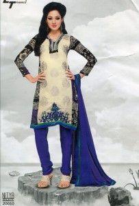 LT Nitya Multicolor Georgette Dress material