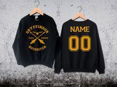 Gryffindor Quidditch Sweatshirt Custom Back Gryffindor by Ridaar