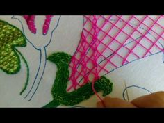 calabaza dora - YouTube Embroidery Stitches, Embroidery Patterns, Hand Embroidery, Kutch Work, Crochet Necklace, Projects To Try, Bee, Lily, Sewing