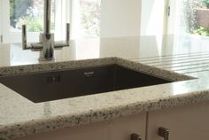 Crushed recycled glass worktop