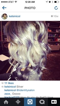 #silverhair #hairlove Love this photo! #Sterlingsalon Love this photo! #Sterlingsalon #summer #hair #blonde #love #fall #stylish #2014 #trend #beachy #waves #product #style #color #layers #texture #awesome #beforeandafter  #ilovehair #davines #beforeandter #kelsidowneystylist #ombre
