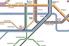 Angus Doyle Design: Glasgow Transport Map