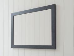 This plain #mirror has a thick #matt #black boarder