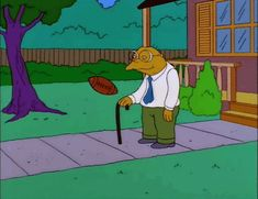 the simpsons football hans moleman crotch football to crotch