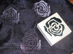 Tutorial for making pressed designs in velvet.  With a paper backing, great gift tags.