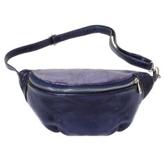 FESTIVAL FANNYPACK - Blue metallic fanny pack by ModeMusthaves.com