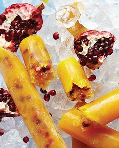 Mango-Pomegranate Boozy Vodka Pops