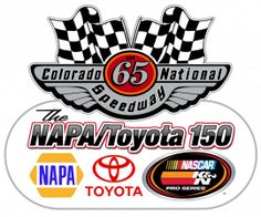Watching the NASCAR K Pro Series West Toyota/NAPA Auto Parts 150, from Colorado National Speedway in Erie, CO.