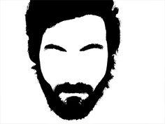 Help with beard logo and/or outline of head (hair,ears,beard) for dj logo-blankbeardedface_02-png