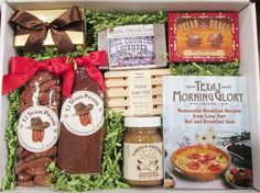 The Texas Morning Glory gift box is sure to please the Texas woman on your gift list. Filled with Texas made products that she will enjoy.