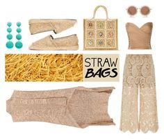 """""""Not only for the beach"""" by na-pan on Polyvore featuring Mode, Valentino, self-portrait, Balmain, House of Holland, Rebecca de Ravenel und strawbags"""