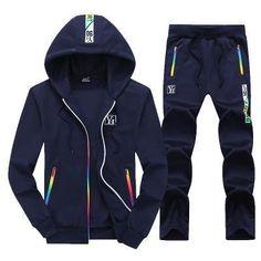 8a64dccdec0e Bumpybeast Sporting Suit Mens Hoodie Zipper Cardigan Pants Suits Tracksuit  Two Piece Set Men