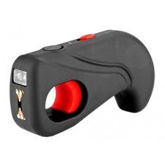 """Poing électrique """"GUN SHOCK"""", 2 000 000 Volts, RECHARGEABLE USB, lampe intégrée et dragonne coupe circuit. #taser #défense #protection"""
