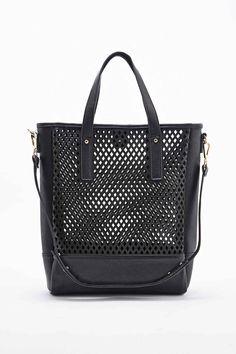 Perforated Tote Bag in Black