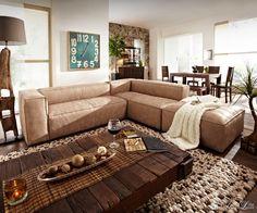 Sofa-Chantalle-280x182cm-Beige-Echtleder-Ledercouch-mit-Hocker-Ecksofa-Ledersofa