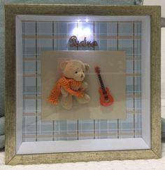 Quadro Maternidade Baby Urso Músico