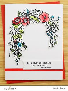 Poetic elegance is what this stamp set represents! It encompasses two beautiful floral frames, and some nostalgic quotes from beloved historical novels, along with some other quotes to tell your loved