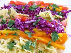 pasta salad with honey cilantro dressing