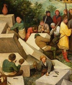 Detail from The Tower of Babel, Pieter Bruegel the Elder, 1563