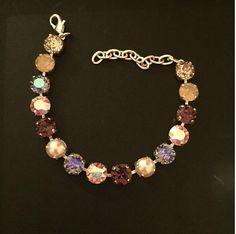 Amethyst Pearl & Tanzanite Bracelet by PrettyInCrystal on Etsy